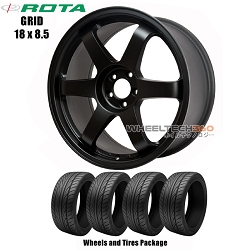 ROTA Wheels Grid (17x8) Wheels and Tires Package