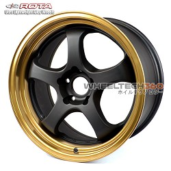 Rota Wheel D2-EX Black with Bronze Lip 18x9.5