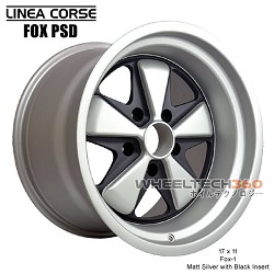 Linea Corse Fox PSD (Fox 3, 17x9 Matt Silver with Black Insert)