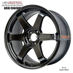 Rota Wheel Grid Concave 18 x 9 Hyper Black