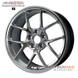 ROTA Wheel KB-F (18x8.5, 5x108+42mm, 73mm Hub)