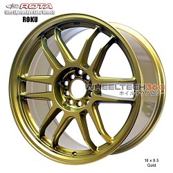 Rota Wheel Roku 18 x 8.5 Gold