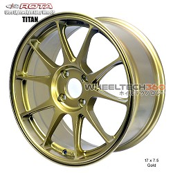 Rota Wheel Titan 17 x 7.5 Gold