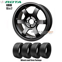 ROTA Wheels Grid (15x7) Wheels and Tires Package