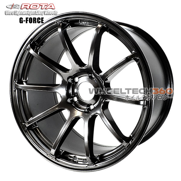 ROTA Wheel G-Force (18x9, 5x114.3+30mm, 73mm Hub)