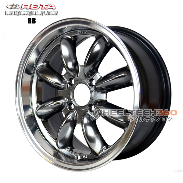 ROTA Wheel RB (15x7, 4x114.3+30mm, 73mm Hub)