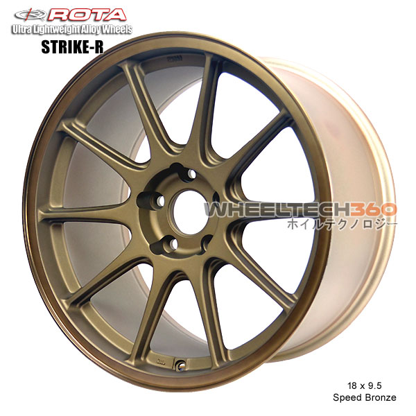 ROTA Wheel Strike (18x9.5, 5x114.3+38mm, 73mm Hub)