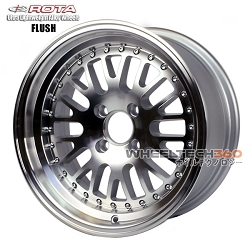 Rota Wheel Flush Full Royal Silver 15x7