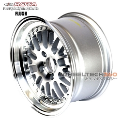Rota Wheel Flush Full Royal Silver 15x8