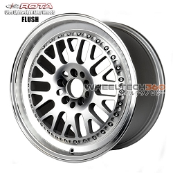 Rota Wheel Flush Full Royal Silver 17x9