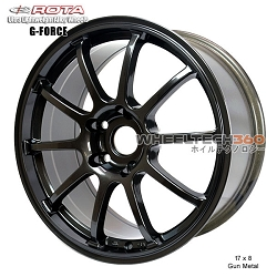 Rota Wheel G-Force 17 x 8 Gun Metal