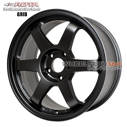 Rota Wheel Grid 17x8 Flat Black