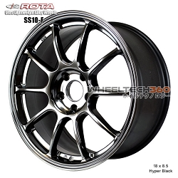 Rota Wheel SS10-F 18 x 8.5 Hyper Black