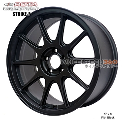 Rota Wheel Strike-F 17 x 8 Flat Black