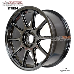 Rota Wheel Strike-F 17 x 8 Hyper Black