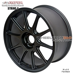 Rota Wheel Strike-F 18 x 8.5 Flat Black