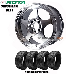 ROTA Wheels Slipstream (15x7) Wheels and Tires Package