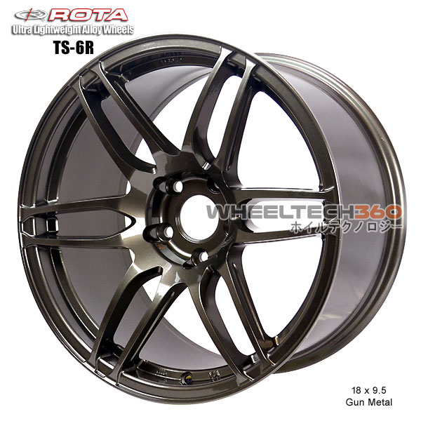ROTA Wheel TS-6R (18x9.5, 5x114.3+30mm, 73mm Hub)