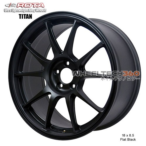 Rota Wheel Titan-F 18 x 8.5 Flat Black