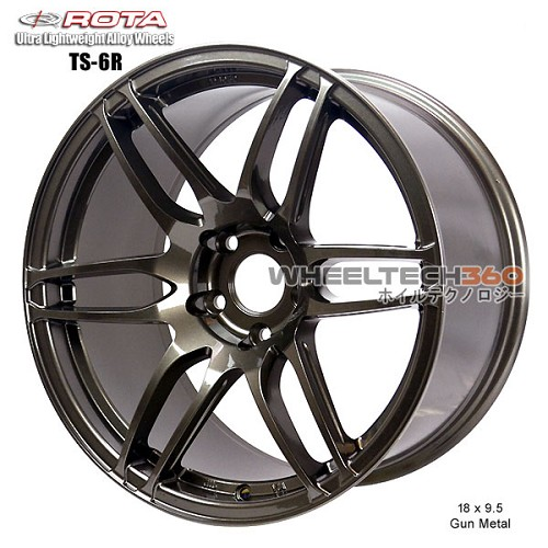 Rota Wheel TS6R 18 x 9.5 Gun Metal